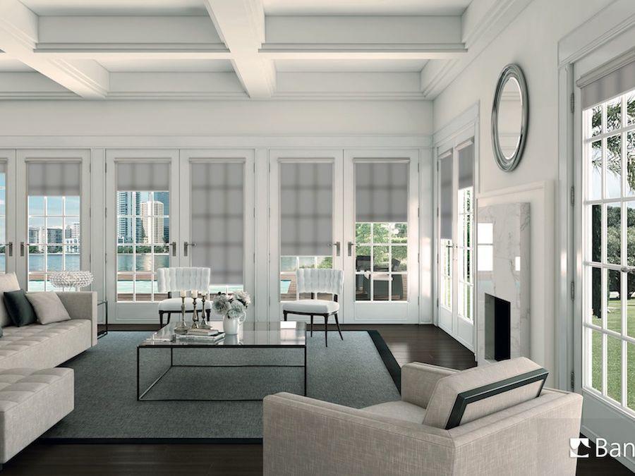 cortina fit color blanc per a sala d'estar per a casa particular