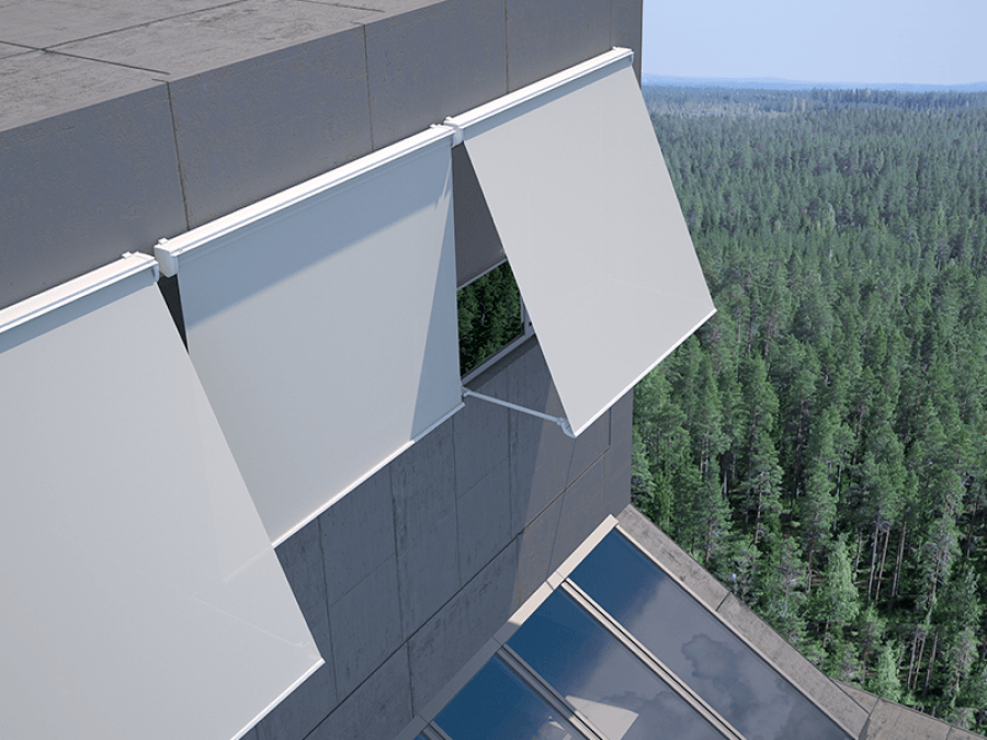 tendal per a balcó en casa particular, tendal en color blanc